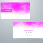 Small 1x dd watercolor business card template 01