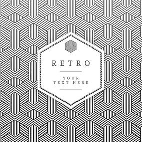 Geometric Retro Vector Card