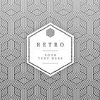 Small 1x geometric retro vector card